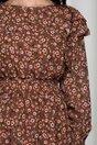 Rochie Clara maro cu imprimeu floral