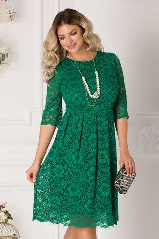 Rochie Corina verde din dantela