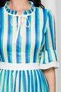 Rochie Daisy cu dungi verzi si albastre