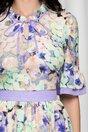 Rochie Daisy cu flori verzi si lila