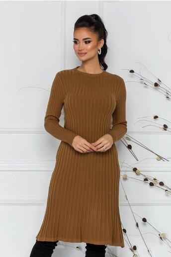 Rochie Damia maro din tricot reiat