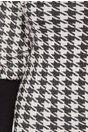 Rochie Daria alba cu imprimeu negru si insertii argintii