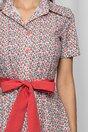 Rochie Daria tip camasa alba cu imprimeu floral mini