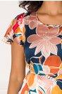 Rochie Dariana cu imprimeu floral in nuante pastelate
