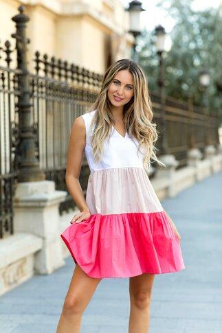 Rochie de vara LaDonna cu volane roz