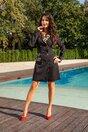 Rochie Dianne neagra cu guler animal print