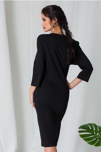Rochie Dorra bordo cu negru si buzunare