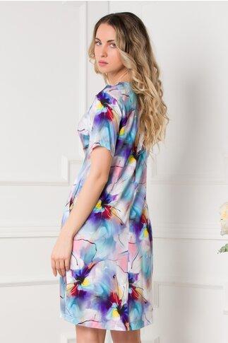 Rochie Dory cu imprimeuri florale pastelate