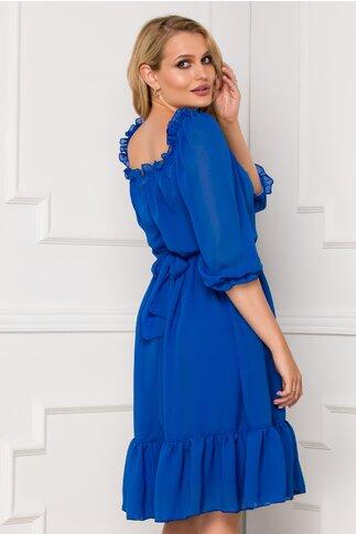 Rochie Ella Collection Mara albastra din voal