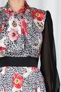 Rochie Ella Collection Monique cu imprimeu animal print si floral