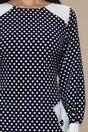 Rochie Ella Collection Violeta bleumarin cu buline albe