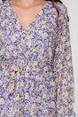 Rochie Elli lila cu imprimeuri florale