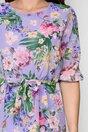 Rochie Emma lila lejera cu imprimeu floral