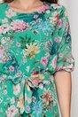 Rochie Emma verde lejera cu imprimeu floral