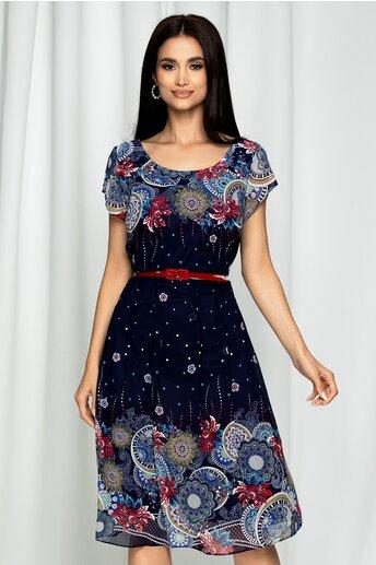 Rochie Esmeralda bleumarin cu imprimeu mandala