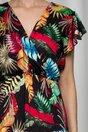 Rochie Flavia neagra cu imprimeu floral