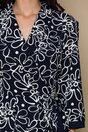 Rochie Flavya bleumarin cu imprimeu floral