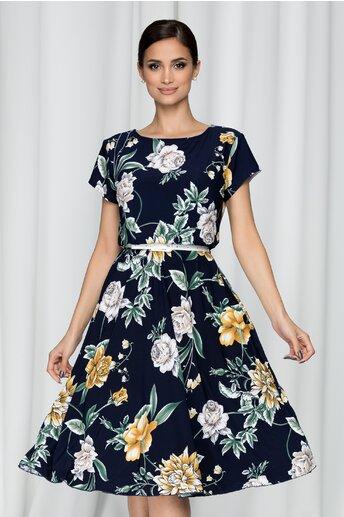 Rochie Flori bleumarin cu imprimeu floral