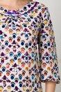Rochie Gia alba cu buline si imprimeu floral