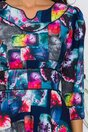 Rochie Gina bleumarin cu imprimeu divers multicolor