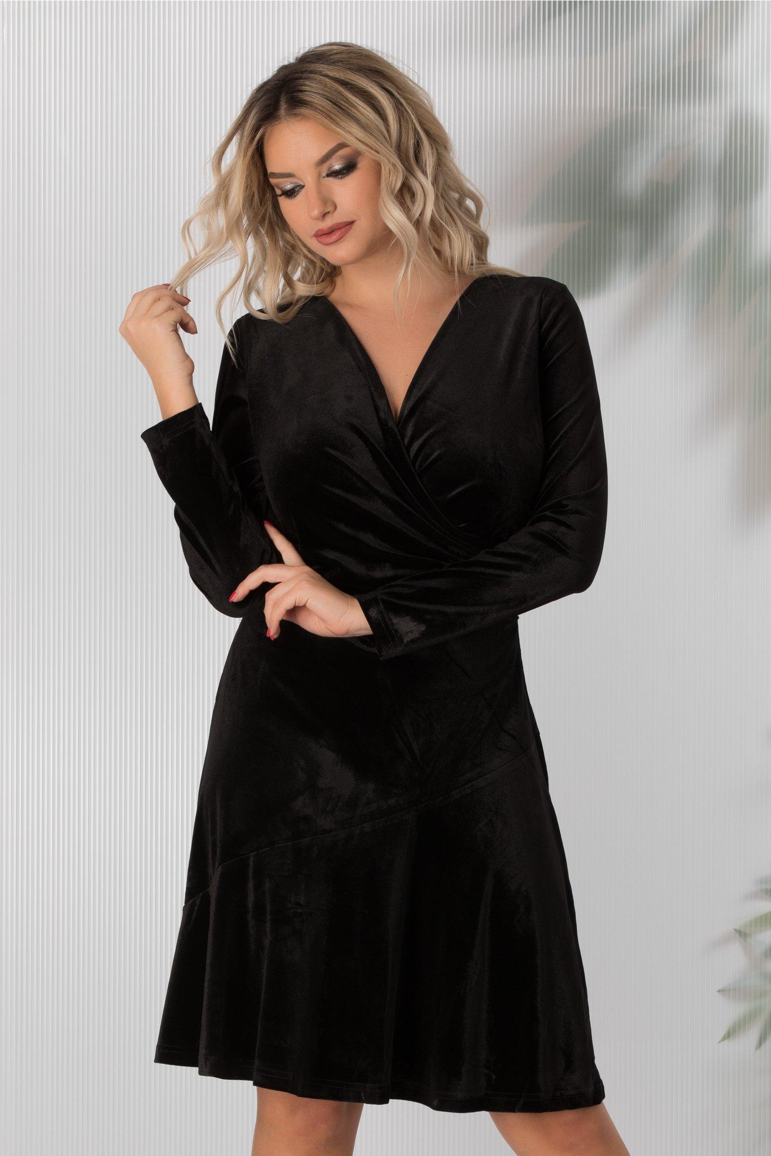 Rochie Ilinka neagra de catifea