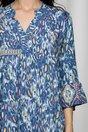 Rochie Ilona albastra cu animal print