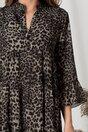 Rochie Ilona kaki cu animal print