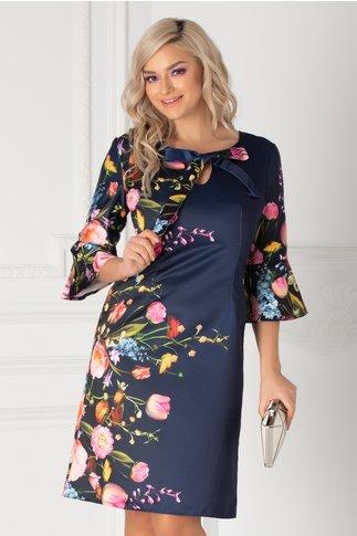 Rochie Ira bleumarin cu imprimeu floral