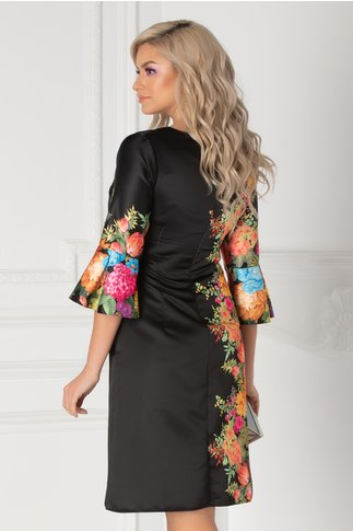 Rochie Ira neagra cu imprimeu floral