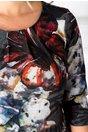 Rochie Isidor gri cu imprimeu floral