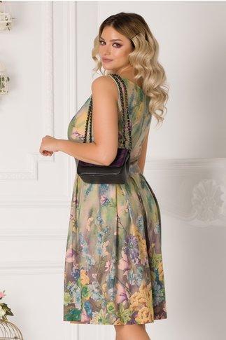 Rochie Issabela vernil cu imprimeu floral