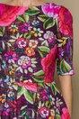Rochie Iulia cu imprimeuri florale maxi