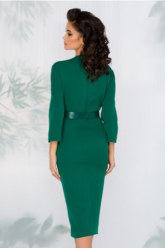 Rochie Ivy verde cu dantela la baza