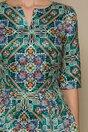 Rochie Jennifer verde cu imprimeu colorat