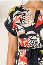 Rochie Kara cu imprimeu geometric multicolor