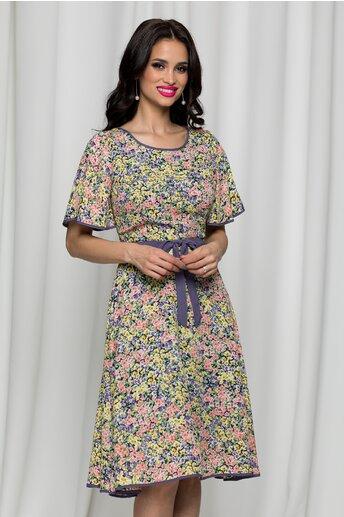 Rochie Kati cu imprimeu floral multicolor
