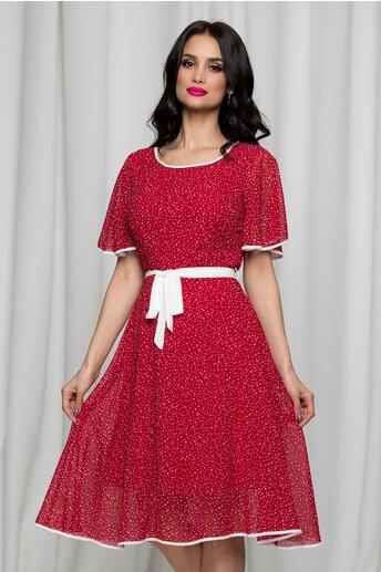 Rochie Kati rosie cu buline