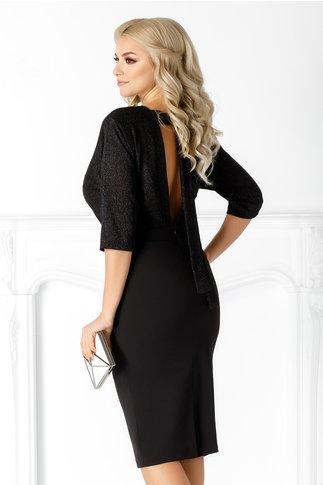 Rochie Katia neagra cu decupaj la spate