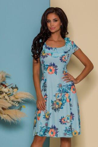 Rochie Kian bleu cu imprimeu floral
