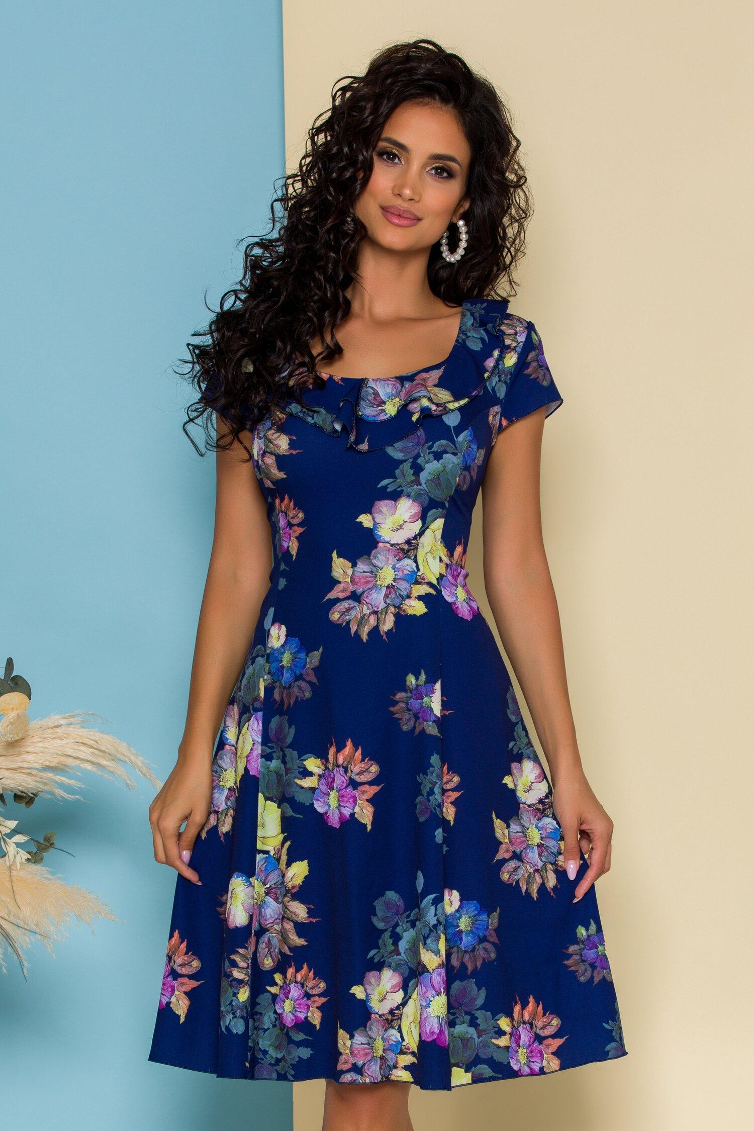 Rochie Kian bleumarin cu imprimeu floral
