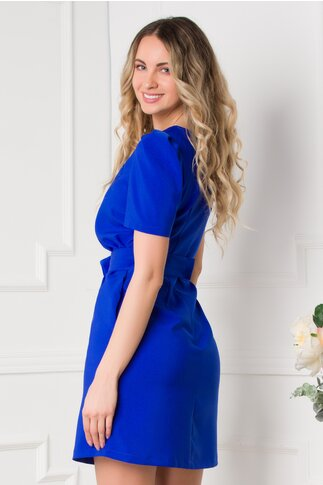 Rochie LaDonna albastra cu borseta