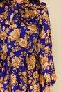 Rochie LaDonna by Catalin Botezatu albastra cu imprimeuri florale