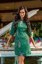 Rochie LaDonna by Catalin Botezatu verde cu imprimeu floral