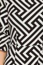 Rochie LaDonna cu imprimeu in dungi zigzag si maneci in valuri