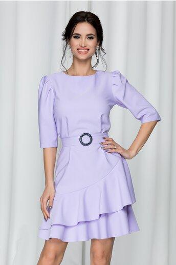 Rochie LaDonna lila accesorizata cu un cordon in talie