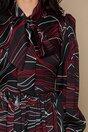 Rochie LaDonna neagra cu imprimeuri rosii