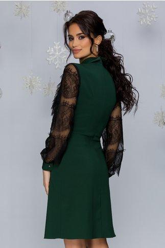 Rochie LaDonna verde cu maneci din dantela