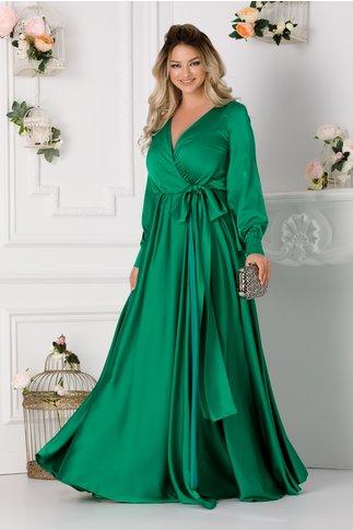 Rochie LaDonna verde lunga petrecuta