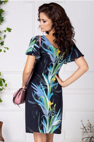 Rochie Leonard Collection bleumarin cu imprimeu colorat