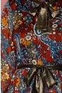 Rochie Leonard Collection caramizie cu imprimeu albastru si lurex